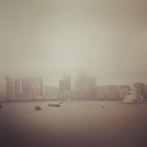 Macau's cloudy skyline...