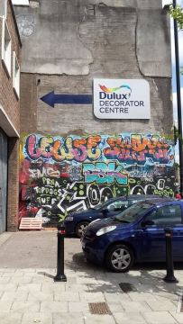 Street art, or the best Dulux advert ever?