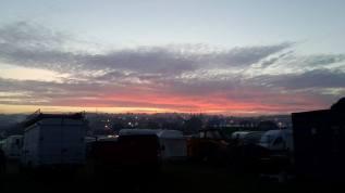 Glasto sunset