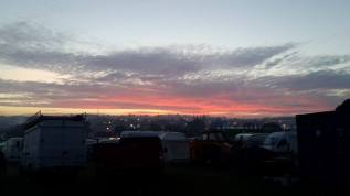 Glasto sunset