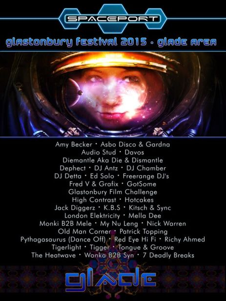 Spaceport @ Glasto lineup